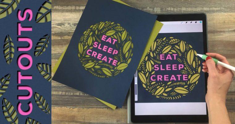 Create Paper Cuttings on Your iPad in Procreate + Digital, Hand Cut, and Cricut Machine Cutting