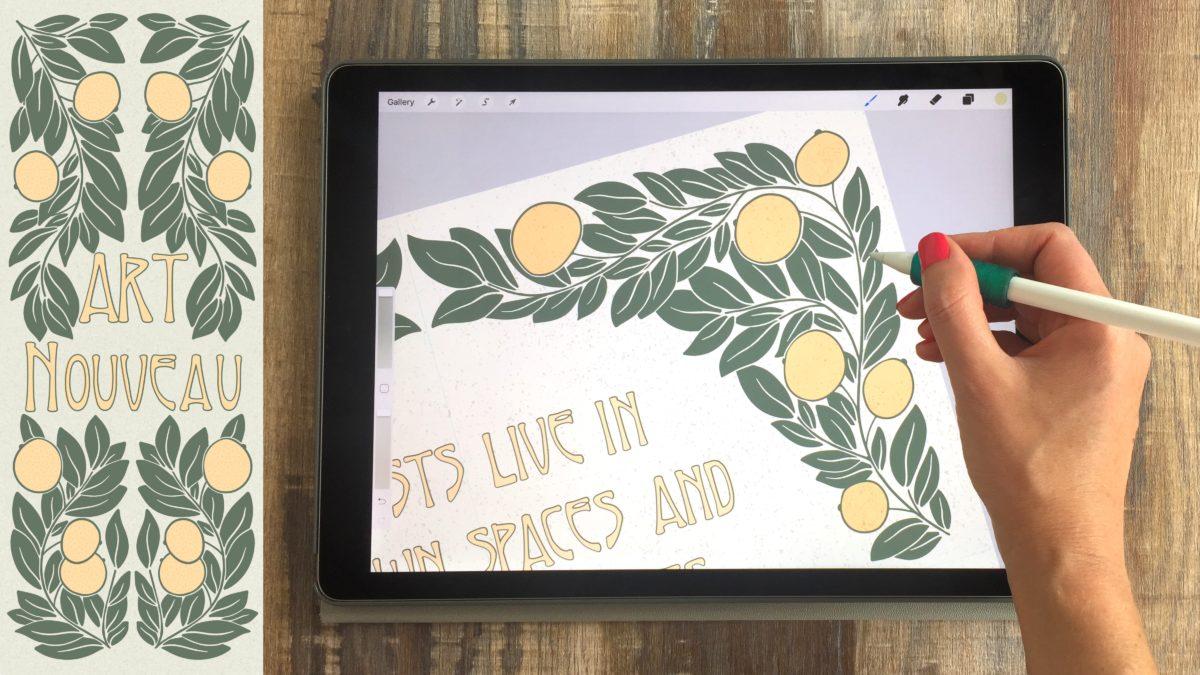 Art Nouveau Illustrations on Your iPad in Procreate