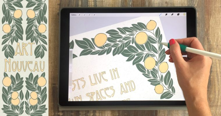 Art Nouveau Illustrations on Your iPad in Procreate