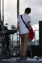 Guitarist warming up