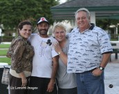 GT Farm owners George and Tania Heatherly with Trainer Willie Melendez and his wife Lisa Melendez