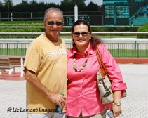 Trainer, Joseph Arboritanza with owner Tania Heatherly