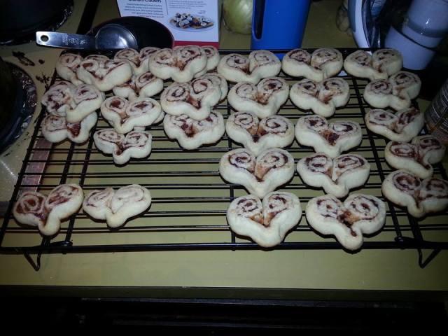 Raspberry Swirled Heart Cookies