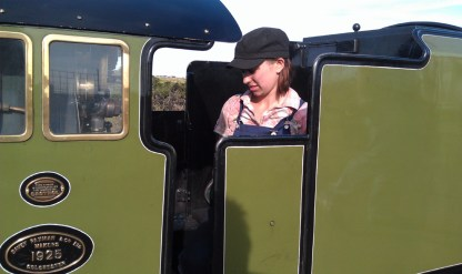 Miniature Steam train driver