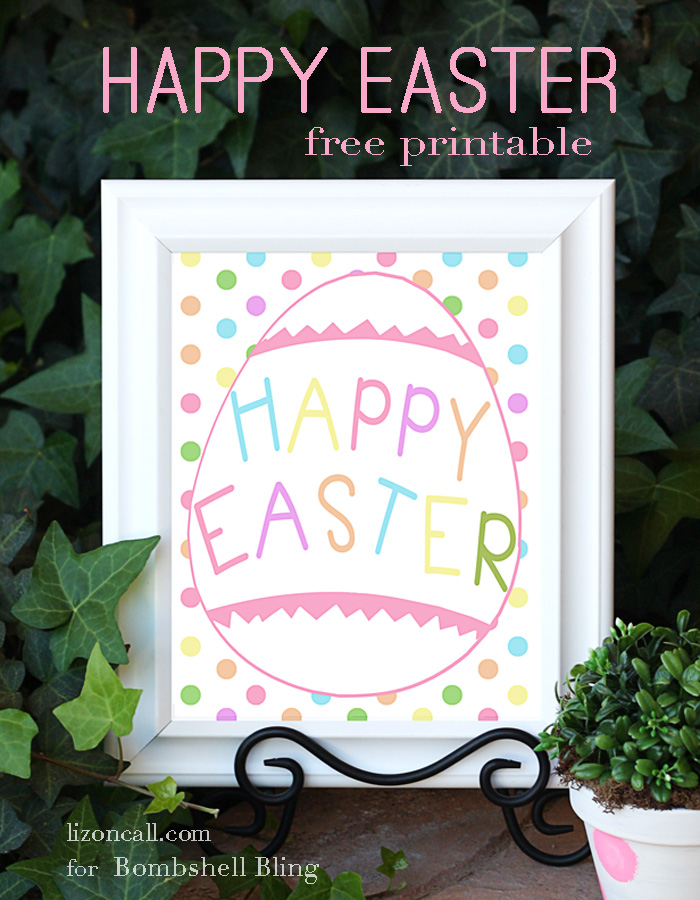 Happy Easter Free Printable 1