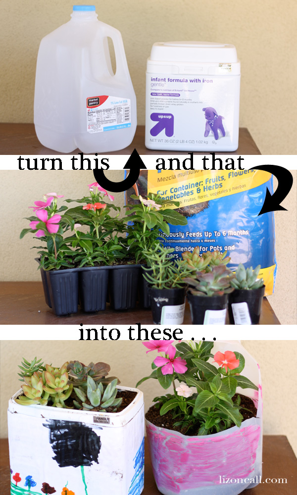 #recycled #planters #kidcraft