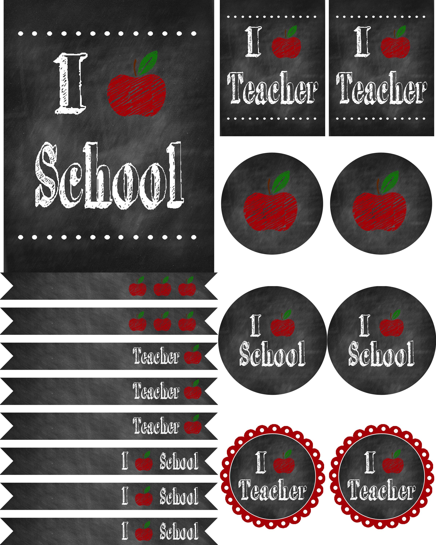 Back To School Chalkboard Printables