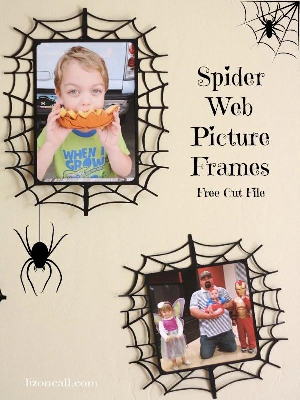 Spider Web Picture Frames