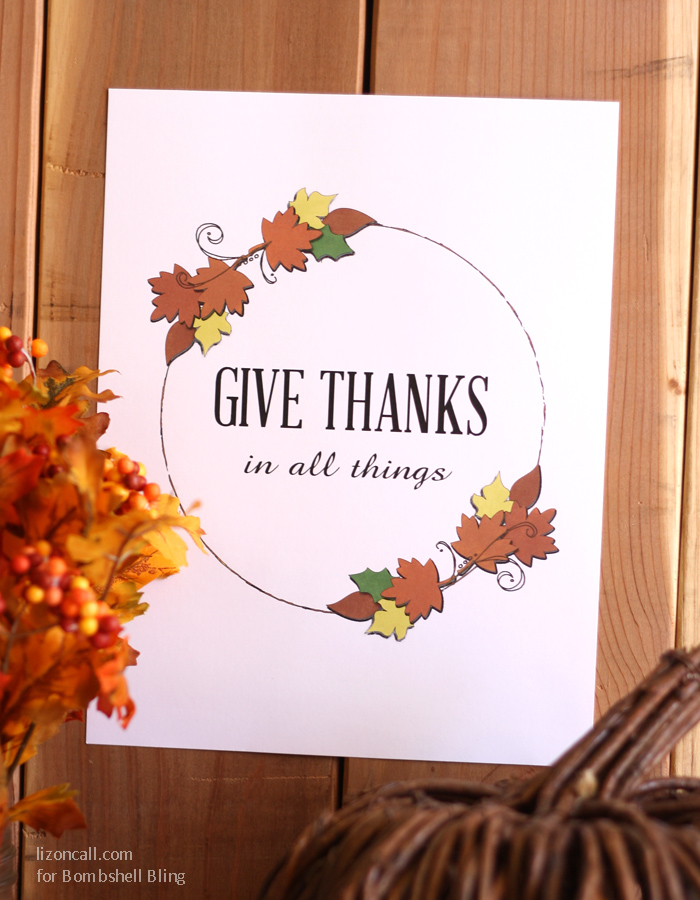 Thanksgiving Printable - Give thanks in all things