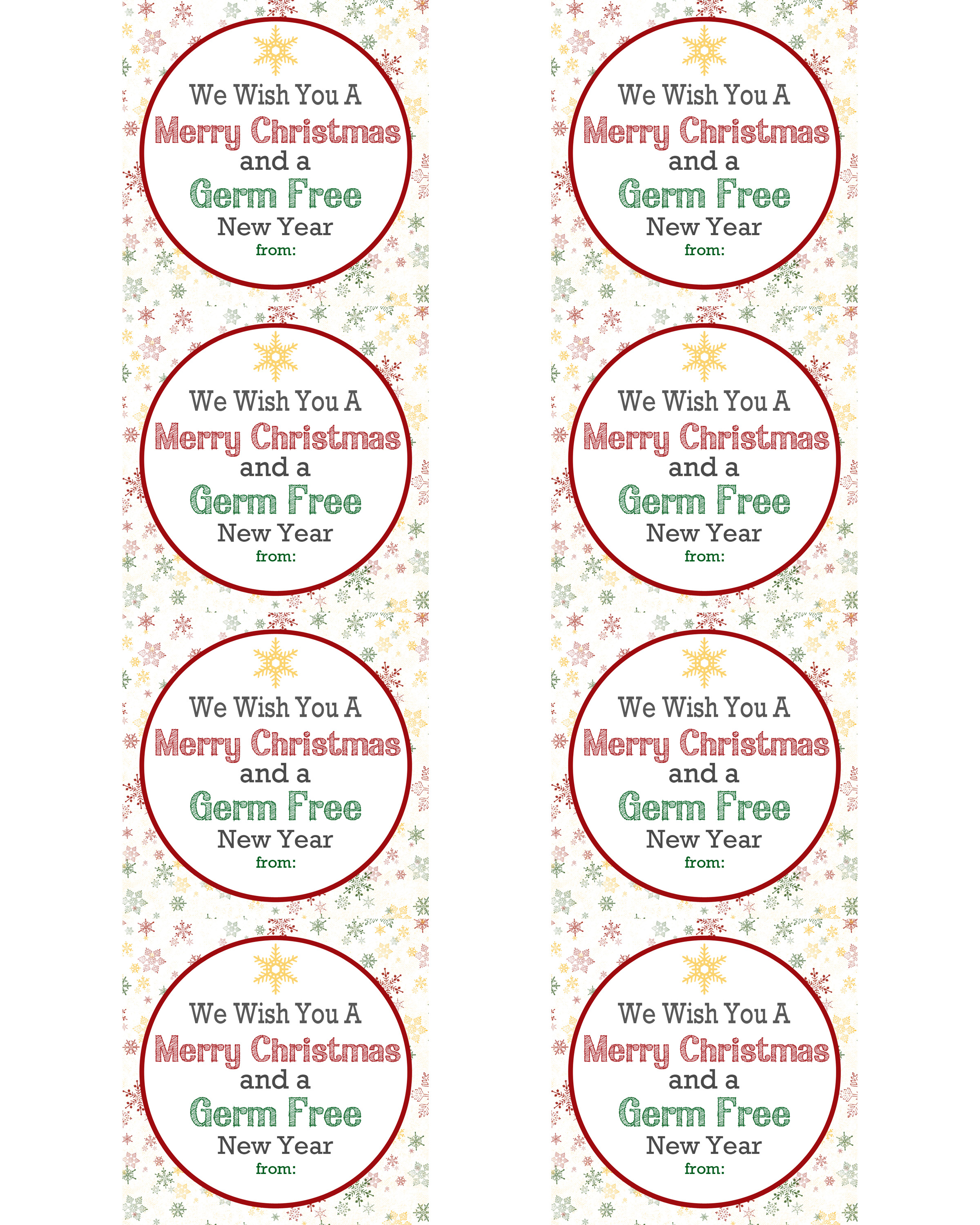 Germ Free New Year T Idea With Free Tags