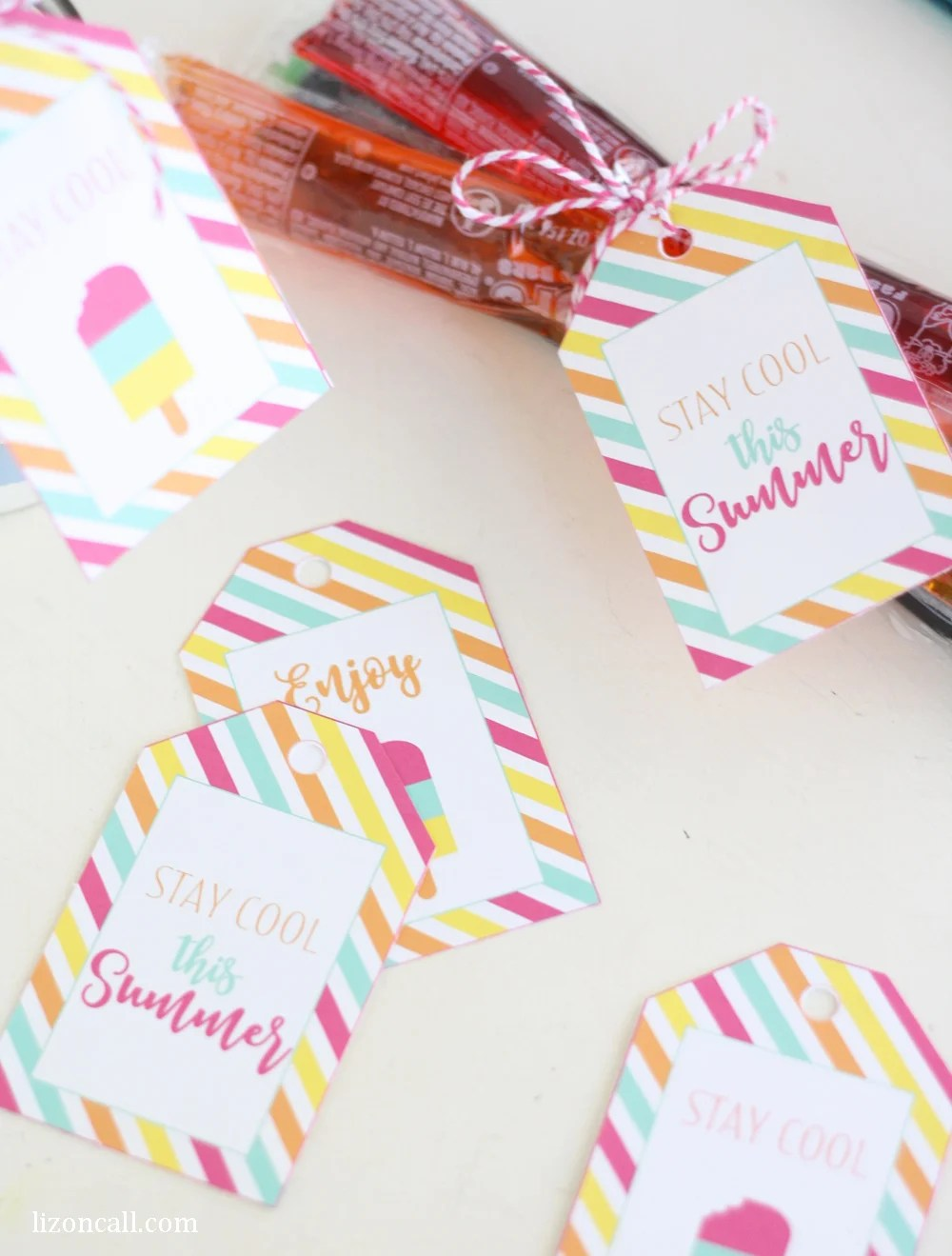 Give a summer treat to your friends and neighbors to help them stay cool this summer. Free printable stay cool summer gift tags.