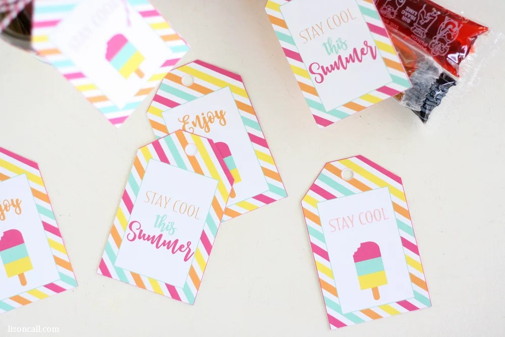 Free printable summer gift tags printable crush give a summer treat to your friends and neighbors to help them stay cool this summer negle Choice Image