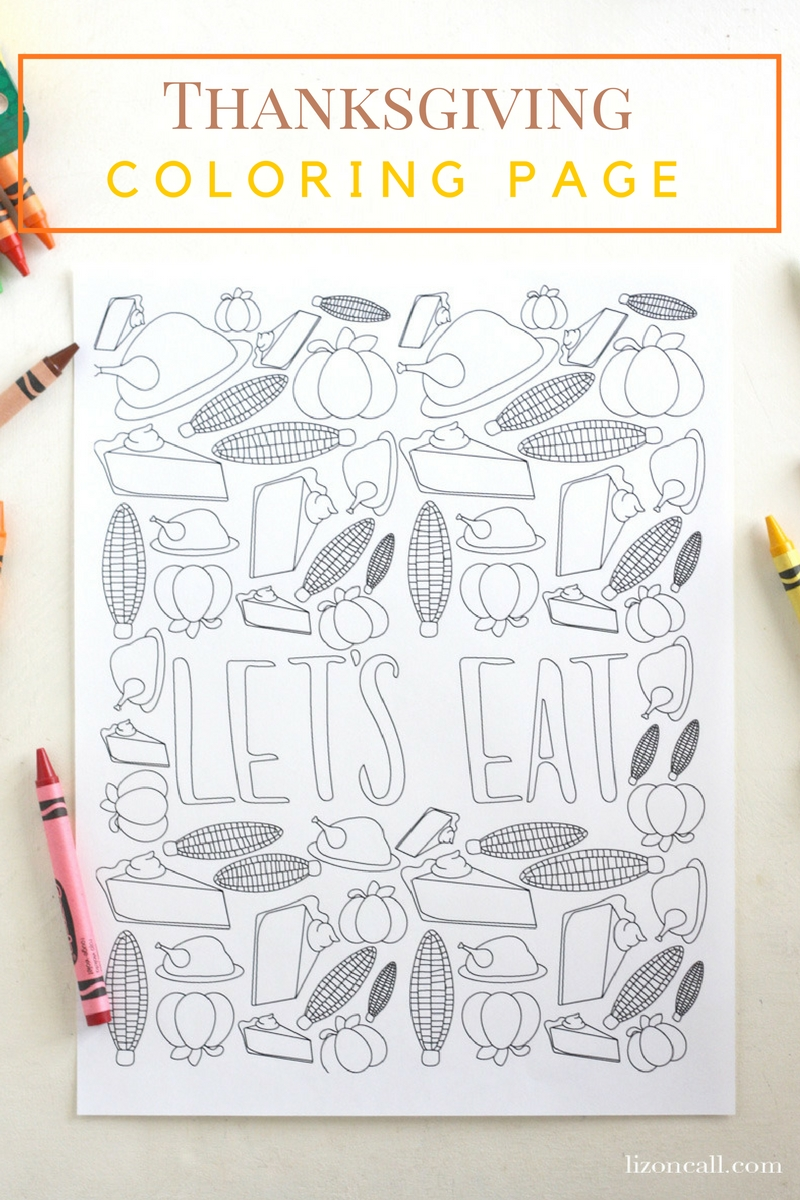 Free Printable Thanksgiving Coloring Page - Liz on Call