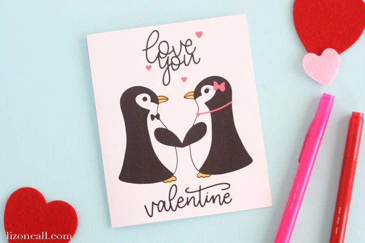 Free Printable Valentines Day Card - Liz On Call-5760