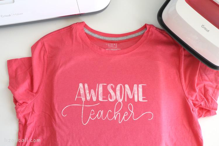 Awesome Teacher | DIY Teacher Appreciation Shirts