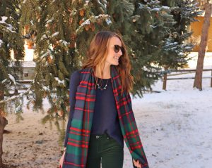 madewell shirt out from the kloth corduroy pants j crew scarf christmas outfit