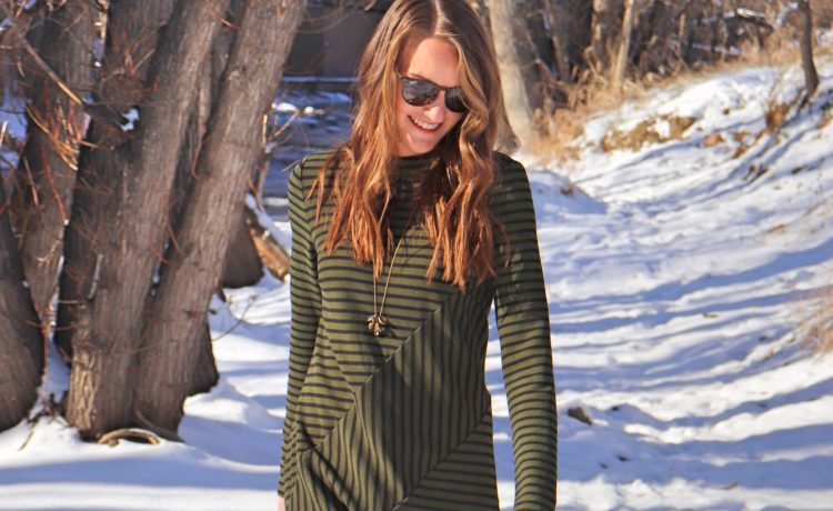 anthropologie winter knit work dress striped