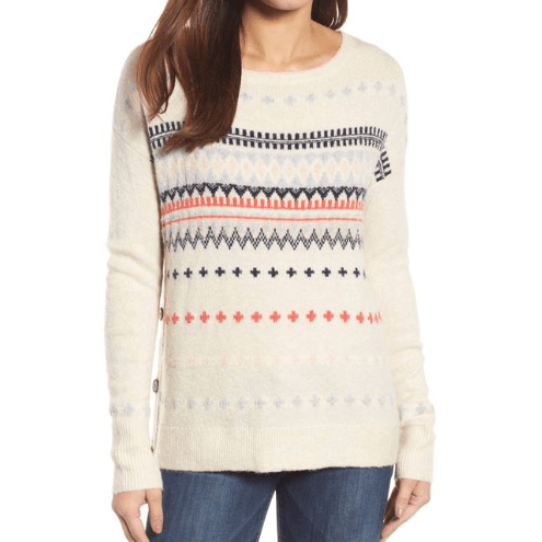 Carson Long sleeve side button sweater