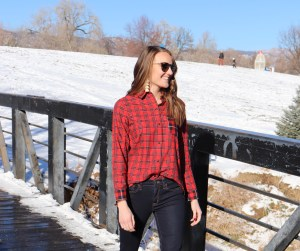 madewell ex boyfriend plaid relaxed fit button up boulder colorado