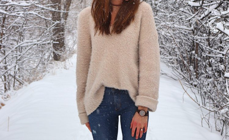 anthropologie sleeping on snow sweater winter outfit idea boulder colorado