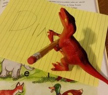 writing dinosaur writes dino