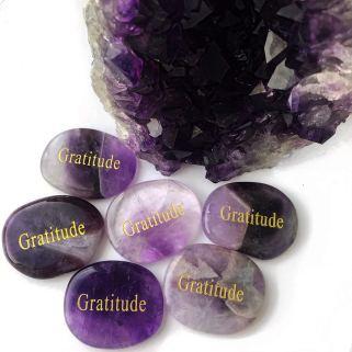 Amethyst gratitude stone daily gratitude practise