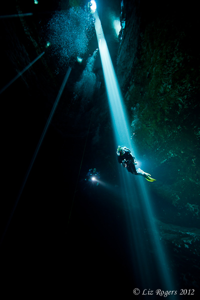 Hanging in the shaft of light