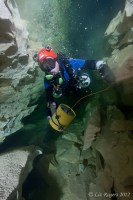 Laying line into Unnamed Cave