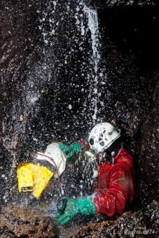 Boulder Jenga waterfall