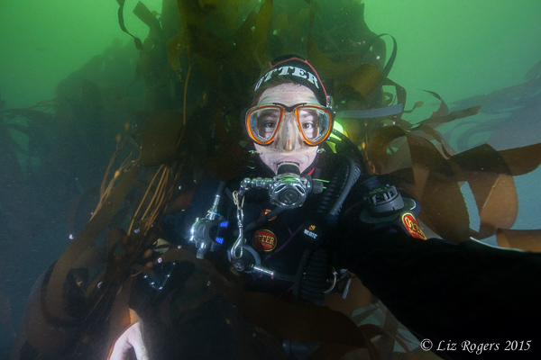 Selfie in the Lima kelp forest
