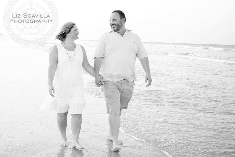 Couple on Beach Black & White