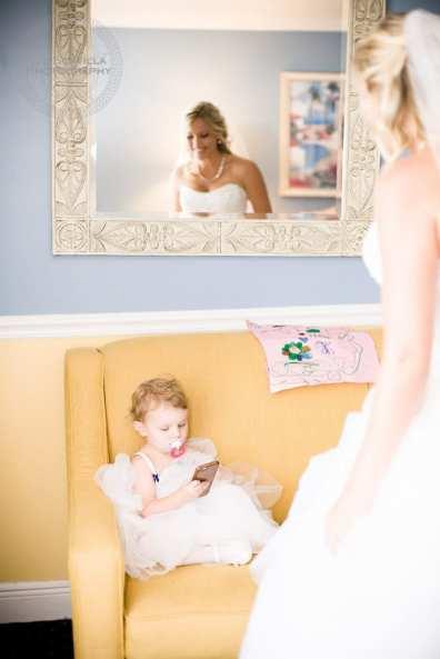 Bride Looking at Daughter