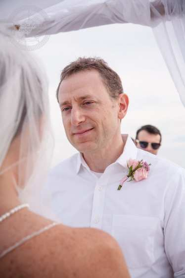 Groom Looking at Bride at Ceremony