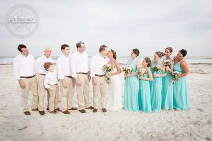 Wedding Party Beach Photo