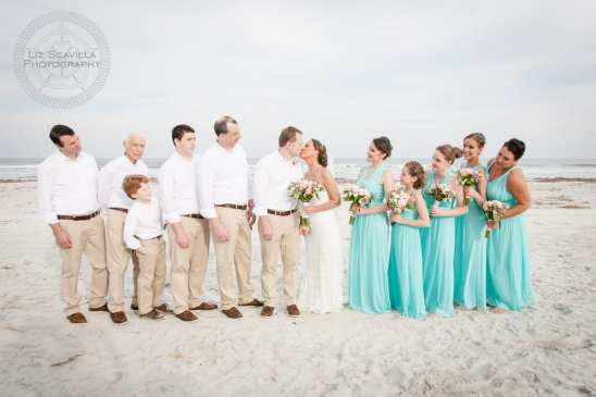 Wedding Party Beach Photo