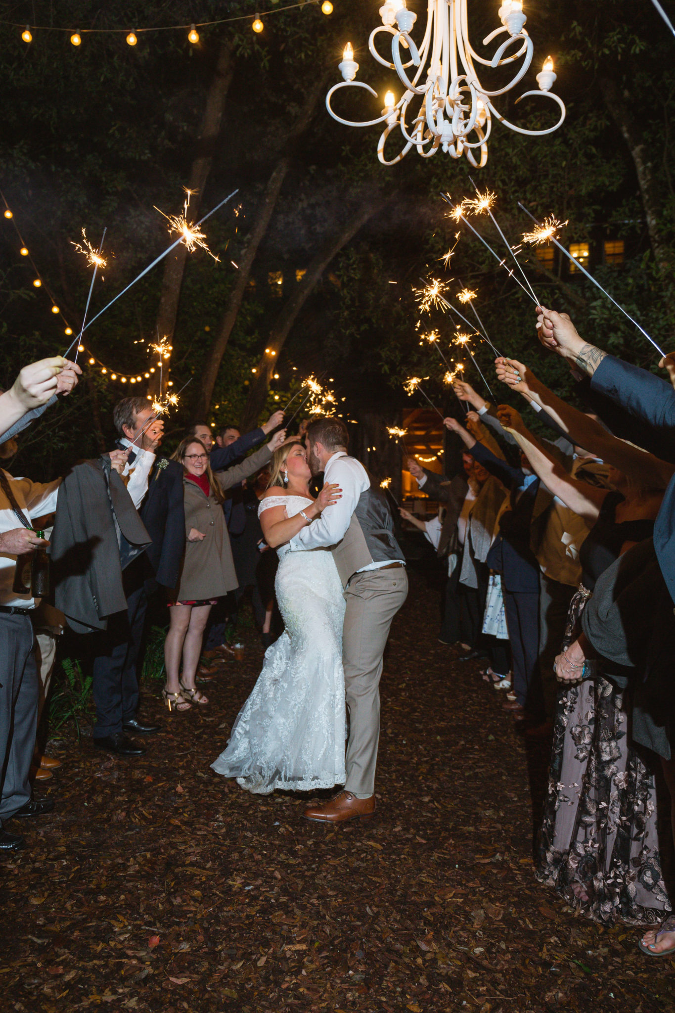A super-fun sparkler exit for the couple at the end of the night.