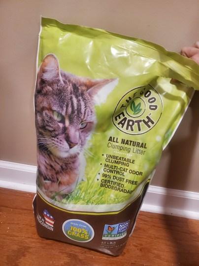 Bag of grass cat litter