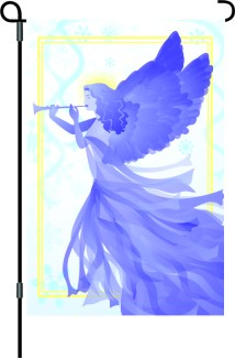 Snow Angel Garden Flag Design
