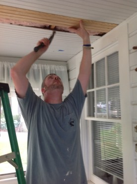 Jon Fixing Ceiling