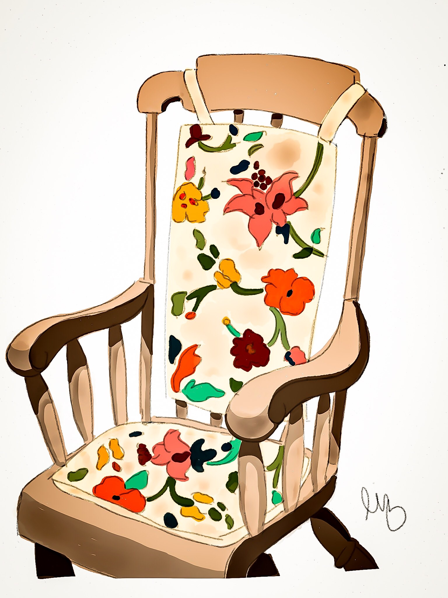 grandma rocking chair hanging bracket grandmas  liz wilson design