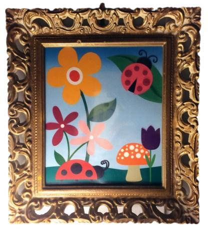 Printed & Framed Ladybugs #2
