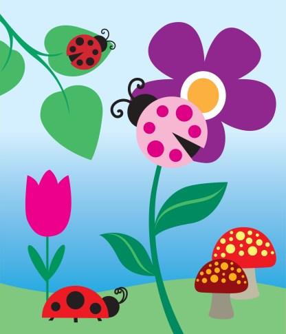 Ladybugs #1 Vector Art