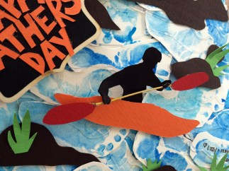 Father's Day Kayaking Collage - Close Up