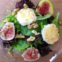 An Autumn Salad of Figs and Warm Goat Cheese