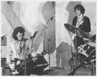 Mick (left) with Walter Ego and the Parapsychics, 1979