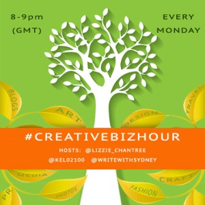 Creativebizhour logo by Lizzie Chantree