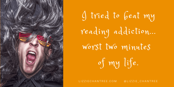 Reading addiction meme by Lizzie Chantree