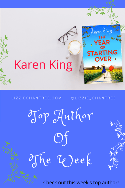 Karen King.Top Author pin by Lizzie Chantree-2