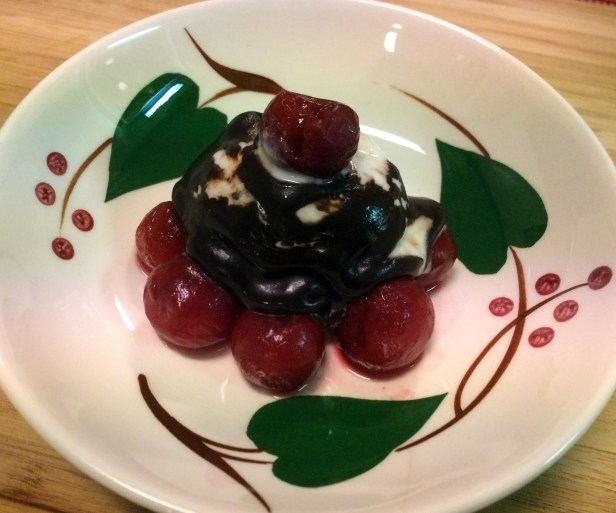 Black forest: cherries with dark chocolate