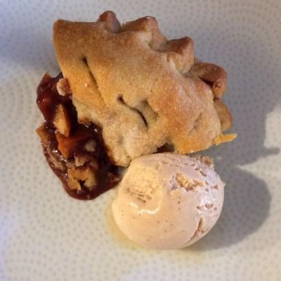 caramel apple pie and ice cream